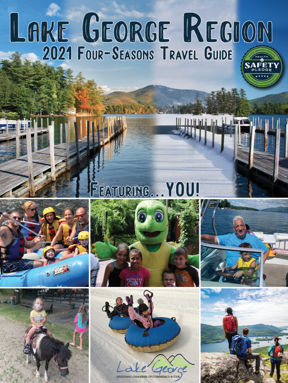 2021 lake george ny travel guide cover