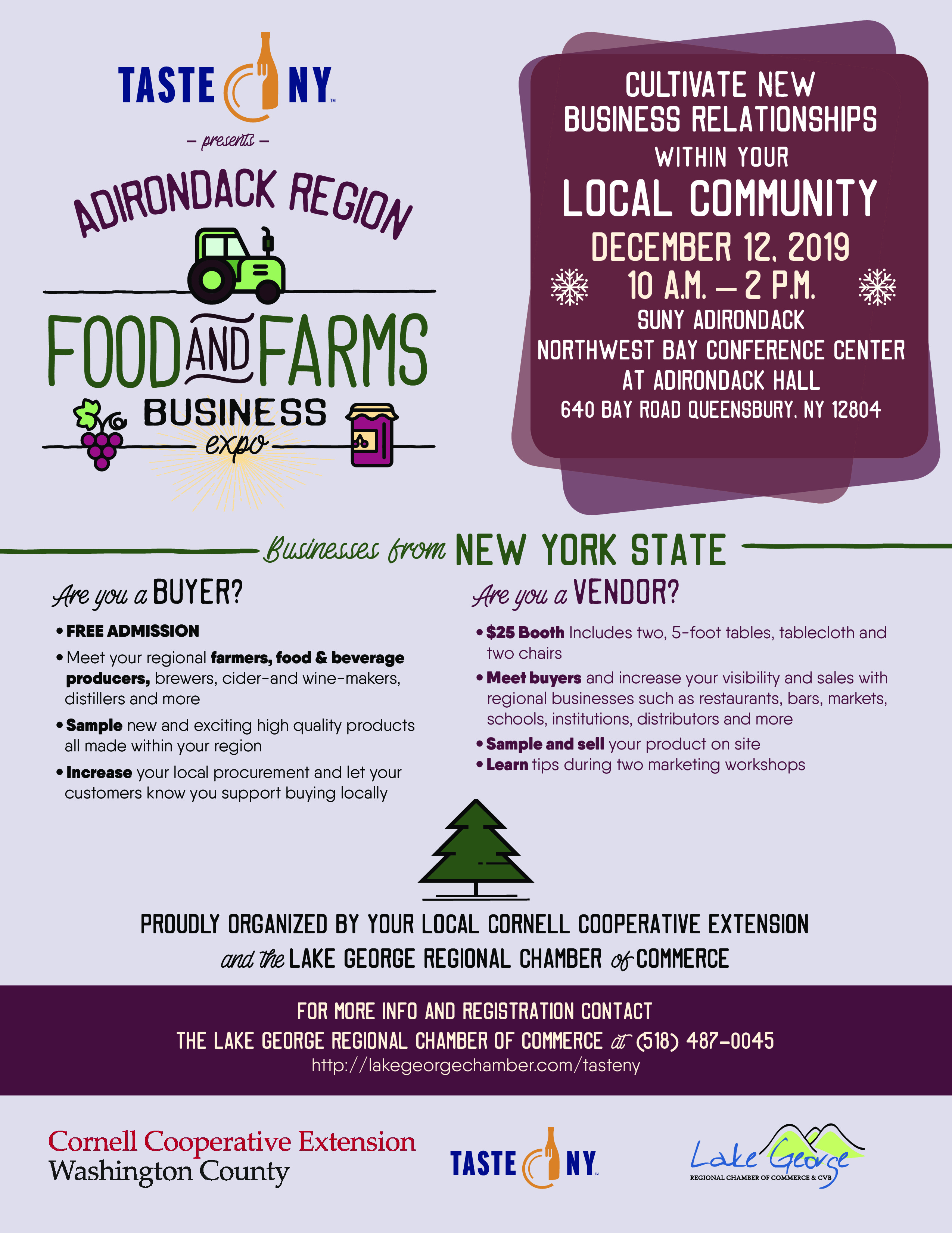 Register for the Adirondack Region Food & Farms Business Expo