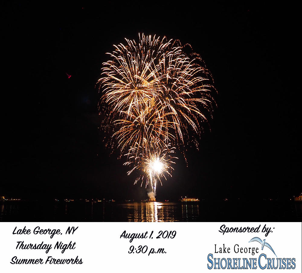 Shoreline Cruises Sponsors August 1 Fireworks