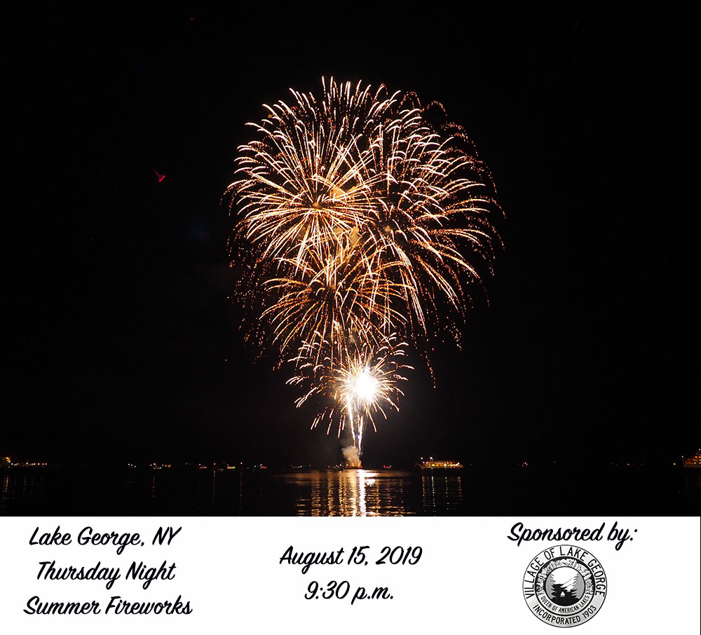 Village of Lake George Sponsors August 15 Fireworks