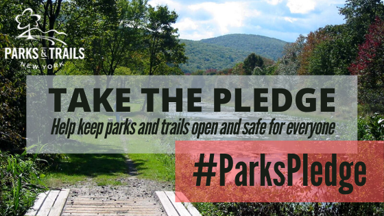 Abide by the #ParksPledge to keep our trails open